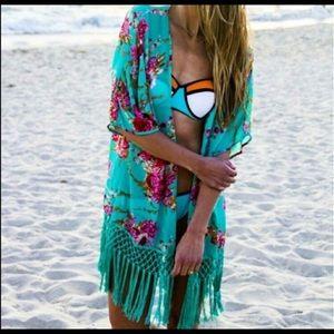 Other - Turquoise green kimono